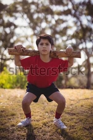 Portret jongen boot kamp Stockfoto © wavebreak_media
