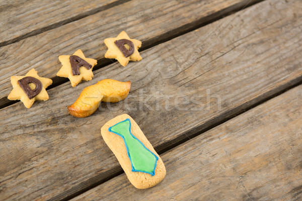 High angle view of dad text cookies arranged on table Stock photo © wavebreak_media