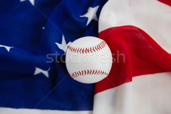 Baseball amerykańską flagę sportu niebieski piłka Zdjęcia stock © wavebreak_media
