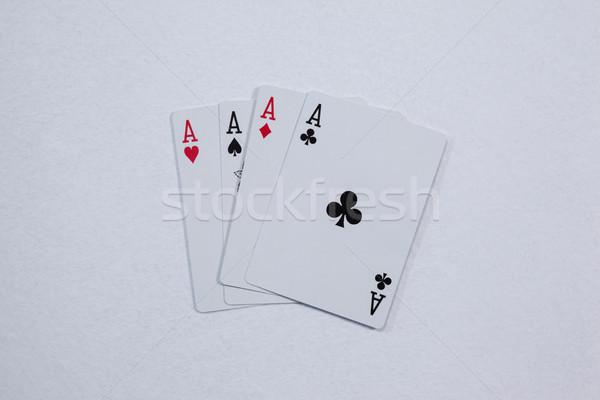 игральных карт белый успех Diamond играть Сток-фото © wavebreak_media