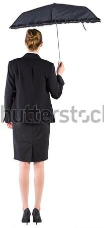 Mujer de negocios equilibrio caminando blanco verde ejecutivo Foto stock © wavebreak_media
