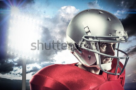 Close-up of sports helmet and football Stock photo © wavebreak_media