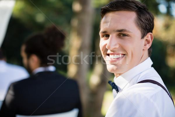 портрет счастливым официант парка любви человека Сток-фото © wavebreak_media