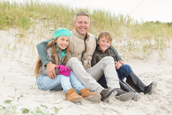 Father and his kids enjoying a day out Stock photo © wavebreak_media