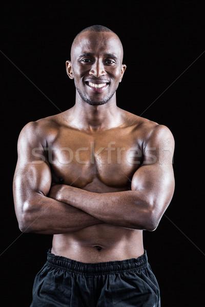 肖像 幸せ シャツを着ていない 選手 立って ストックフォト © wavebreak_media