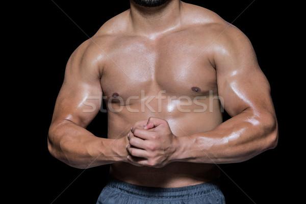 Sin camisa muscular hombre negro salud Foto stock © wavebreak_media