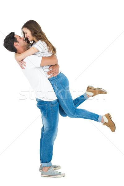 Copain petite amie blanche Homme souriant Photo stock © wavebreak_media