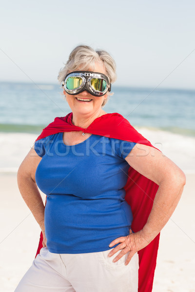 Senior woman wearing superwoman custome Stock photo © wavebreak_media
