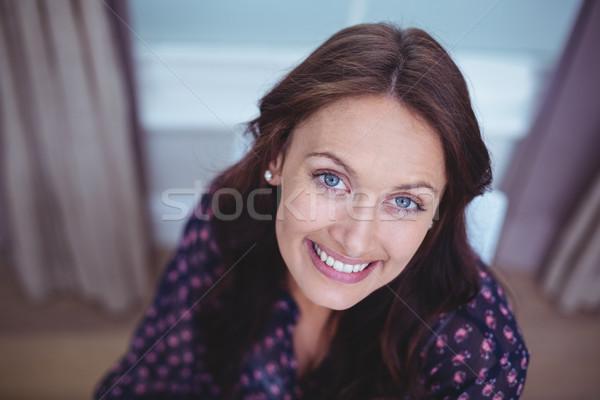 Porträt schöne Frau lächelnd home Frau Freude Stock foto © wavebreak_media