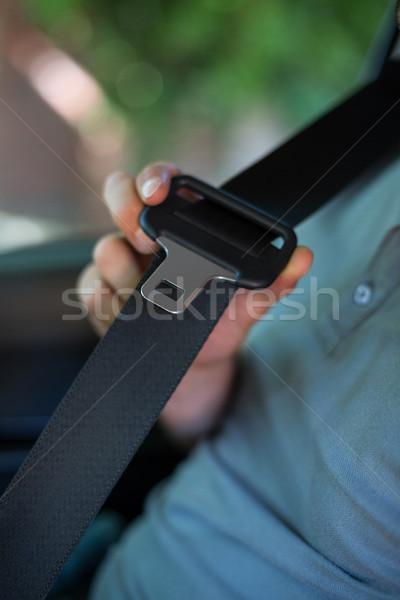 Bestuurder auto zitting gordel man Stockfoto © wavebreak_media