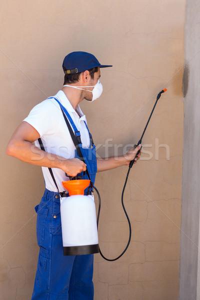 Man spraying pesticide on wall Stock photo © wavebreak_media