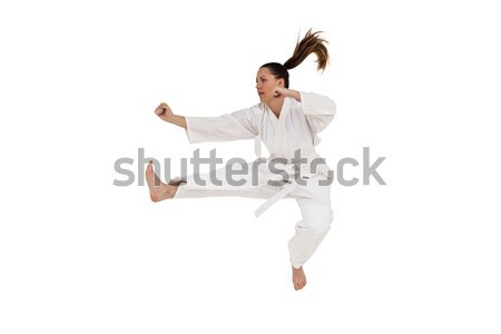 Fighter performing karate stance Stock photo © wavebreak_media