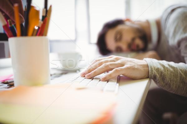 Empresario toma siesta oficina cansado creativa Foto stock © wavebreak_media