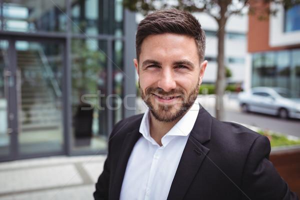 Retrato sorridente empresário escritório homem corporativo Foto stock © wavebreak_media