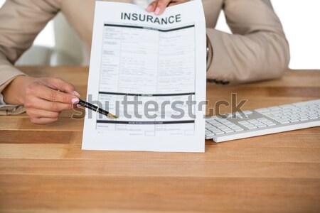 женщину Библии сидят столе бизнеса таблице Сток-фото © wavebreak_media