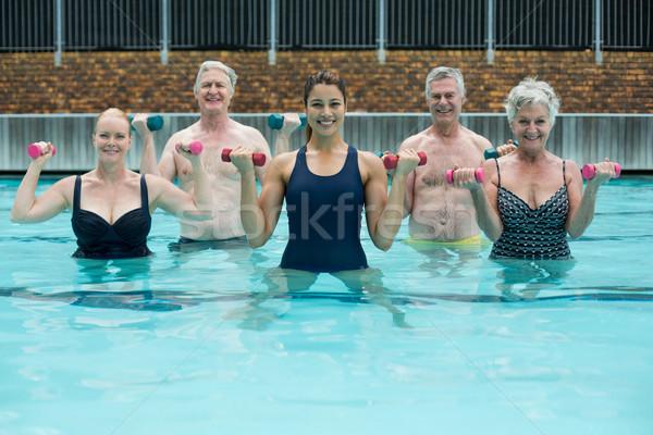 Kıdemli yüzme havuzu kadın su Stok fotoğraf © wavebreak_media