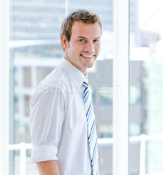 портрет привлекательный бизнесмен Постоянный современное здание служба Сток-фото © wavebreak_media