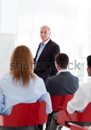 Imprenditrice mano up conferenza business riunione Foto d'archivio © wavebreak_media