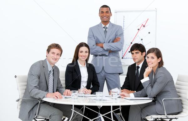 Man presentatie bedrijf business zakenman conferentie Stockfoto © wavebreak_media