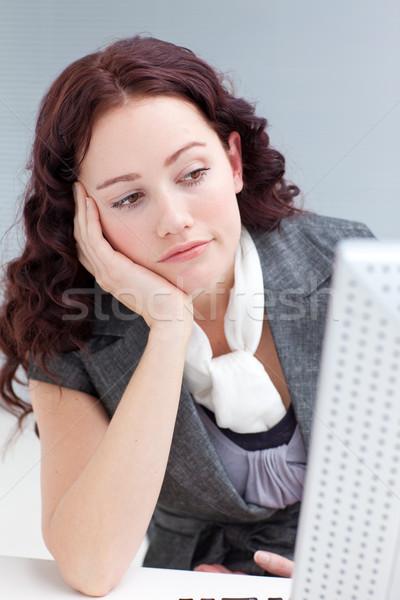 Młodych kobieta interesu biuro nudzić portret twarz Zdjęcia stock © wavebreak_media