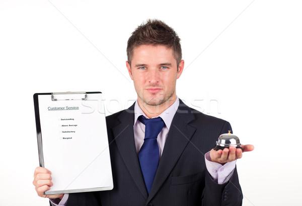Atendimento ao cliente empresário tempo ajudar acelerar anel Foto stock © wavebreak_media