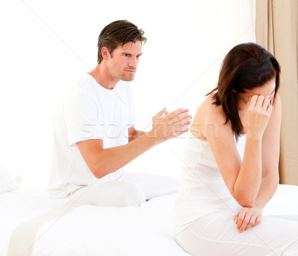 Stressed couple having an argument Stock photo © wavebreak_media