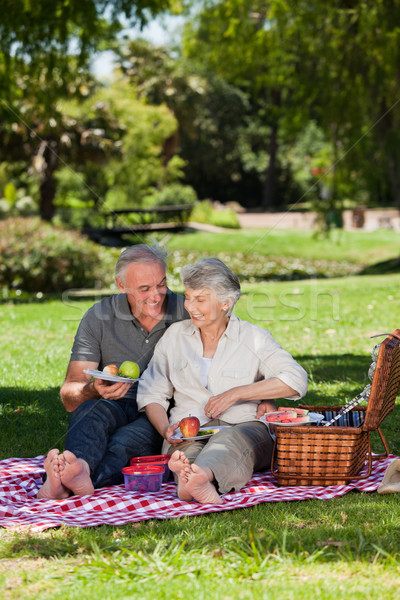 Starszych para ogród kobieta baby zdrowia Zdjęcia stock © wavebreak_media