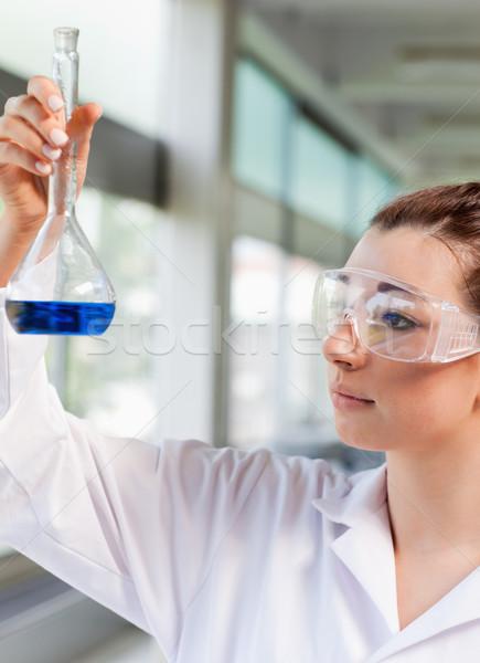 Portre genç bilim öğrenci bakıyor mavi Stok fotoğraf © wavebreak_media