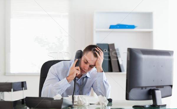 Frustré affaires téléphone affaires travaux Photo stock © wavebreak_media