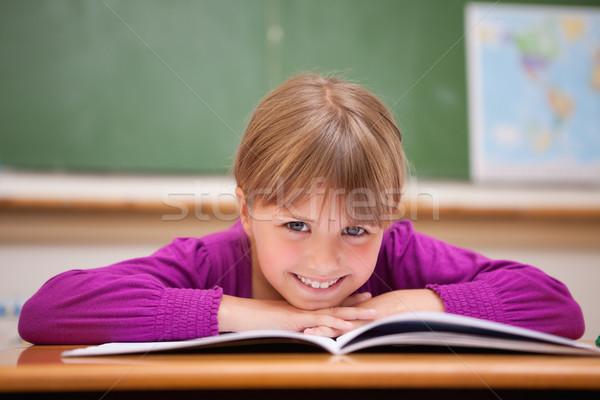 écolière bureau classe visage enfant Photo stock © wavebreak_media