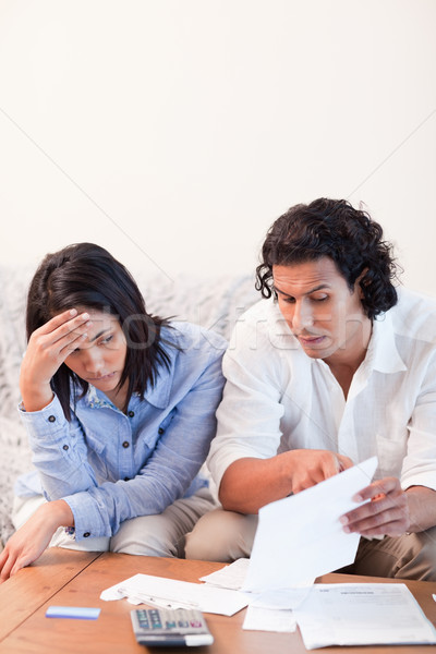Young couple talking about bad news they got by mail Stock photo © wavebreak_media