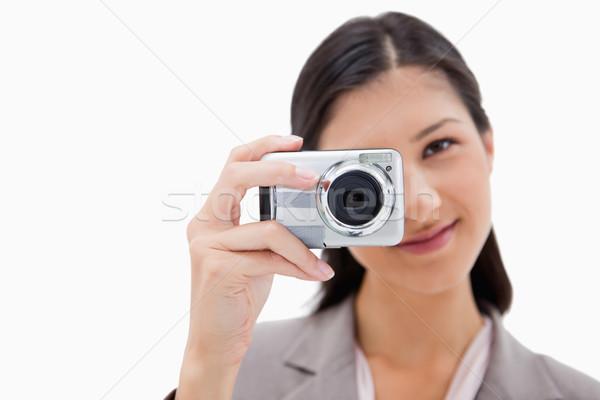 女性実業家 画像 白 技術 背景 ストックフォト © wavebreak_media