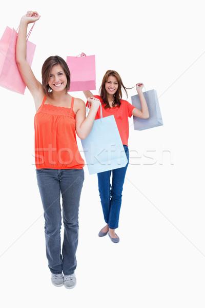 улыбаясь подростков купить мешки воздуха Сток-фото © wavebreak_media