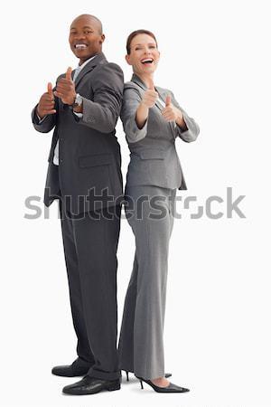 улыбаясь деловые люди бизнеса улыбка бизнесмен Сток-фото © wavebreak_media