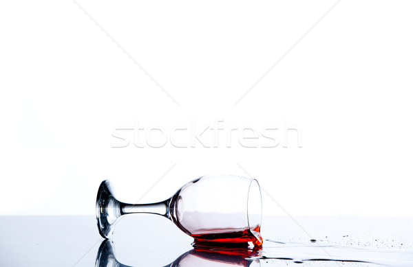 Red trickle flowing on the floor of a glass Stock photo © wavebreak_media