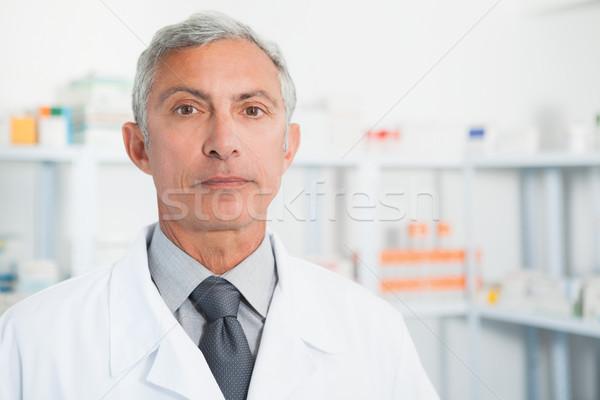 化学者 着用 白衣 病院 医師 薬 ストックフォト © wavebreak_media