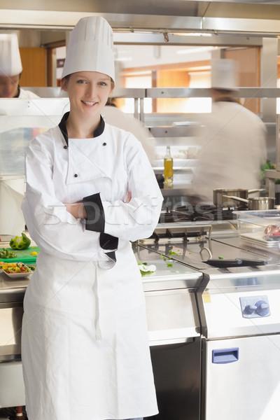 Felice chef stufa cucina uomo Foto d'archivio © wavebreak_media