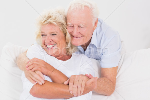 Casal velho sessão sofá mulher amor Foto stock © wavebreak_media