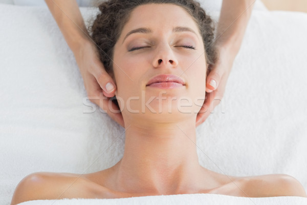 Woman receiving massage in health spa Stock photo © wavebreak_media