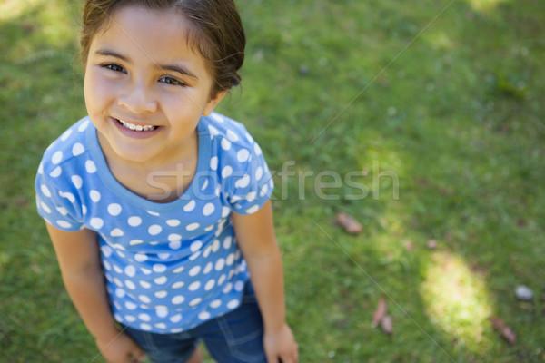 Portrait of a girl smiling at 1ark Stock photo © wavebreak_media