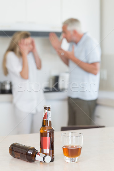 Angry couple arguing after drinking alcohol  Stock photo © wavebreak_media