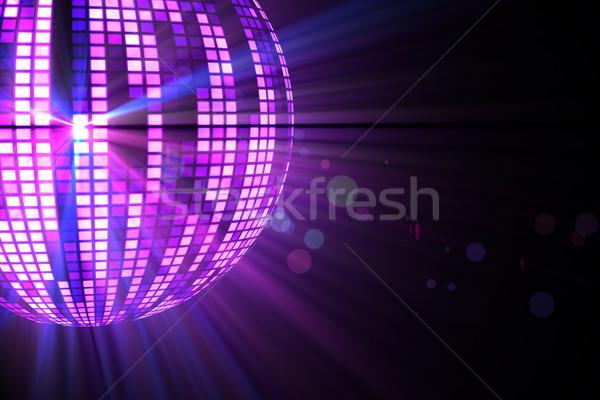 Cool Disco Ball дизайна Purple вечеринка Сток-фото © wavebreak_media