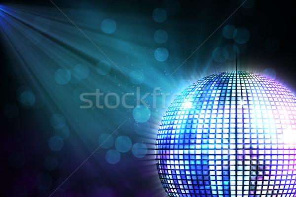 Digitalmente generado disco ball negro fiesta Foto stock © wavebreak_media