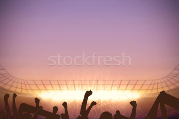 Voetbal stadion juichen menigte digitaal gegenereerde Stockfoto © wavebreak_media