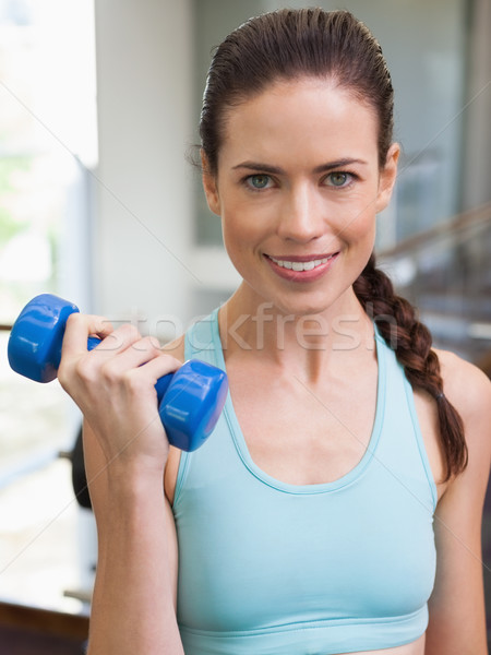 Encajar morena azul gimnasio Foto stock © wavebreak_media