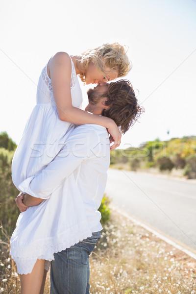 Attrattivo uomo up bella fidanzata Foto d'archivio © wavebreak_media