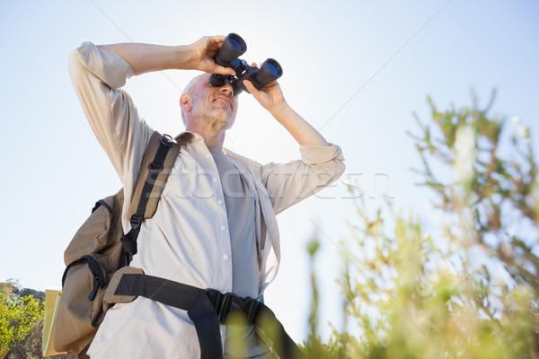 ハイカー 立って 国 歩道 見える 双眼鏡 ストックフォト © wavebreak_media
