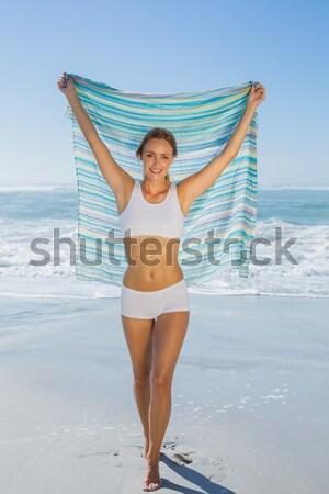 Uygun kız sarı bikini Brezilya Stok fotoğraf © wavebreak_media