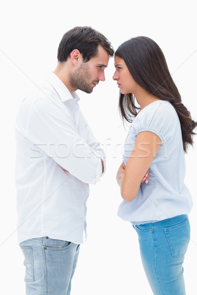 Angry couple facing off after argument Stock photo © wavebreak_media