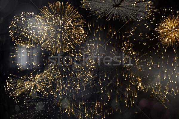 Coloré feux d'artifice noir généré Photo stock © wavebreak_media